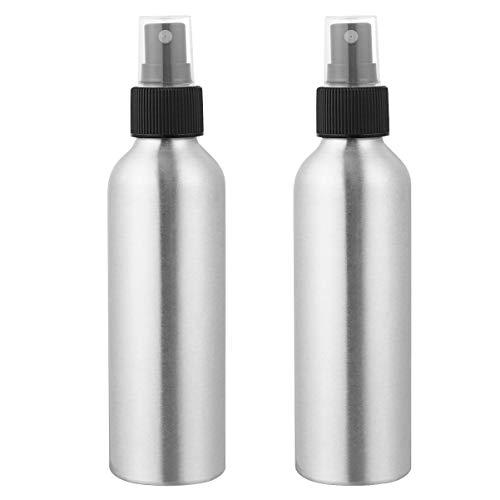Minkissy 2 Stück Aluminium Sprühflasche 150ml Nachfüllbar Leere Tragbar Kosmetikflasche Parfüm ätherische öle Sonnenschutz Lotion Make Up Kosmetik Wasser Reisebehälter Zuhause in Freien