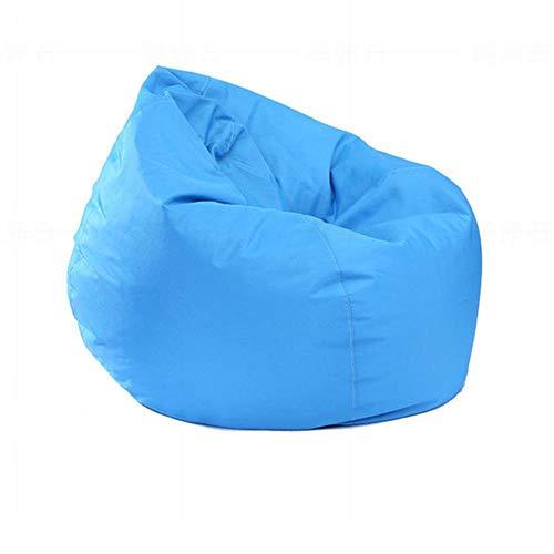 Greenf - Puf de pera para adultos y niños, sin relleno, funda de puf gigante de tela Oxford 420D, ergonómico, gran sillón de salón para interior y exterior, 75 x 85 cm, color azul cielo