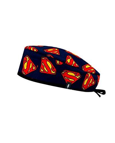 ROBIN HAT - Cuffie da sala Operatoria Superman- CAPELLI CORTI- 100% cotone (Autoclave) - Massima comodità