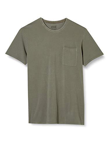 ESPRIT Herren EarthColors Piqué T-Shirt, 356/DARK Khaki 2, XL