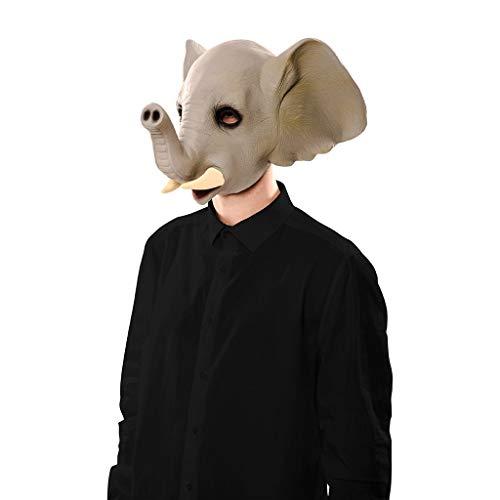 EUROCARNAVALES Elefant Maske Latex Elefantenmaske Mask Gummimaske Erwachsene