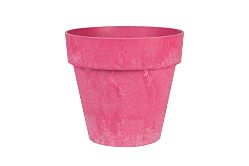 Artstone Pflanzgefäß Pflanzkübel Luna, frostbeständig und leichtgewichtig, 36 x 34 cm, rosa