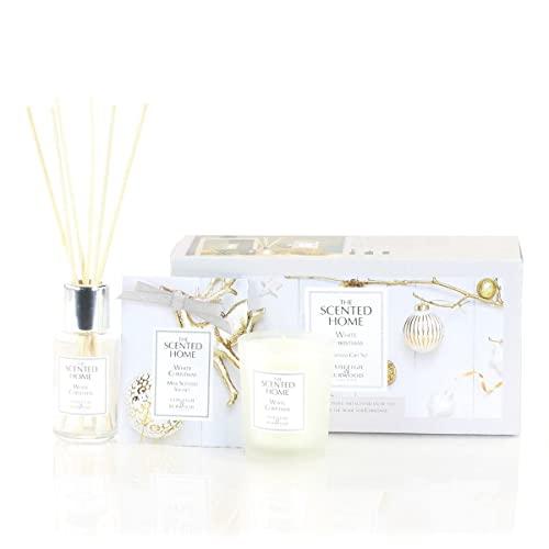 Ashleigh & Burwood The scented Home - Juego de regalo de Navidad, diseño de Navidad, color blanco