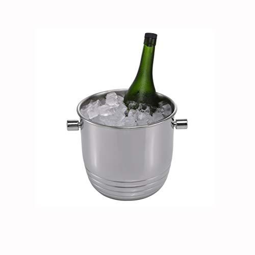 YILIAN Cubo de Hielo de Pared Doble de Acero Inoxidable Bebida Chiller Profesional Aislado Caja de Hielo Ideal for reuniones de Vino