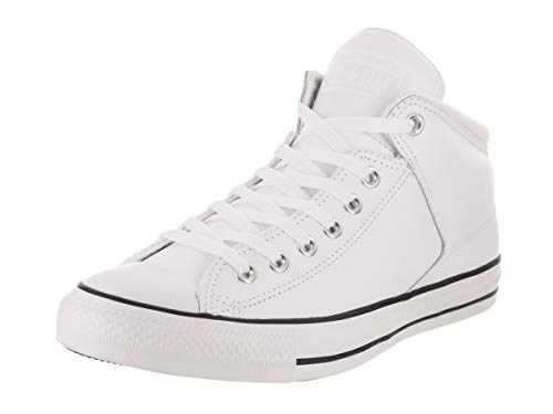 Converse Mens Chuck Taylor All Star High Street Top Sneaker Sneakers, White, 9 M