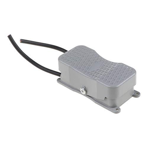 Qirun Interruptor de pie AC250V Interruptor de inversión del Controlador de Potencia del Pedal con línea de Doble Cabezal