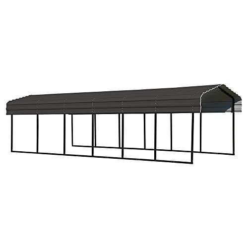 Arrow Shed 10 x 29 x 7-Foot Heavy Duty Galvanized Steel Metal Multi-Use Shelter, Shade, Carport, 10'...