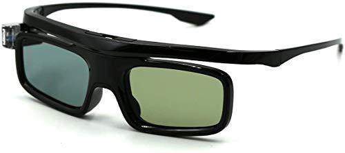 Enlux 3D Glasses, Active Shutter Rechargeable Eyewear for 3D DLP-Link Projectors Cocar Toumei - Pack of 2