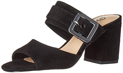 Bella Vita Women's Tory Dress Sandal Shoe, Black Kidsuede Leather, 9.5 2W US