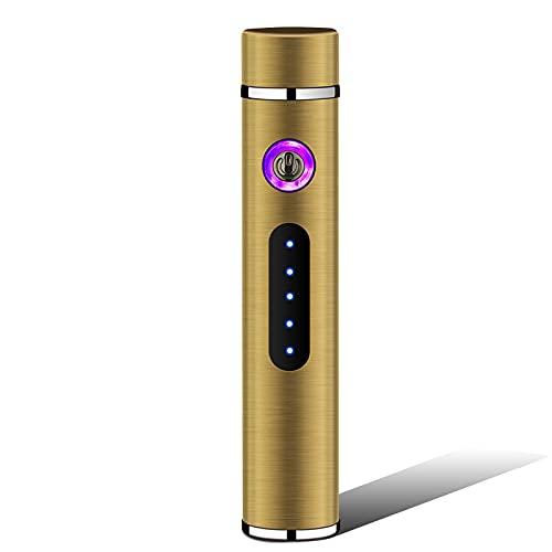 Accendino a doppio arco ricaricabile lungo mini mini ricaricabile, batteria display USB accendisigari elettronico