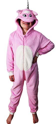 Tierkostüm für Kinder, Einteiler, weiches Fleecegewebe, verschiedene Modelle, für Kinder mit einem Alter von 2bis13Jahren, Pink 8-9 Jahre