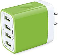 Wall Charger Adapter, AILKIN 1 Pack 4Port USB Plug Fast Charging Block Box Cube Brick for iPhone 12 Mini 12 Pro Max SE 11X...