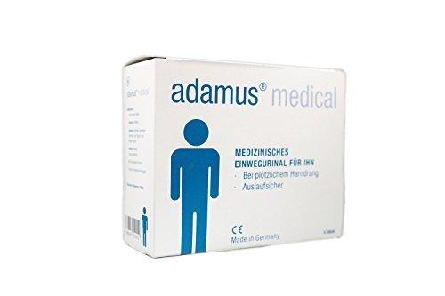 Adamus med.Reise-WC Notfall-Toilette, Taschenörtchen für Männer, 5 -er Pack