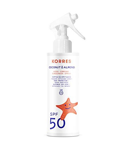 Korres COCONUT & ALMOND Sonnenemulsion für Kinder SPF50 , 1er Pack(1 x 181 g)