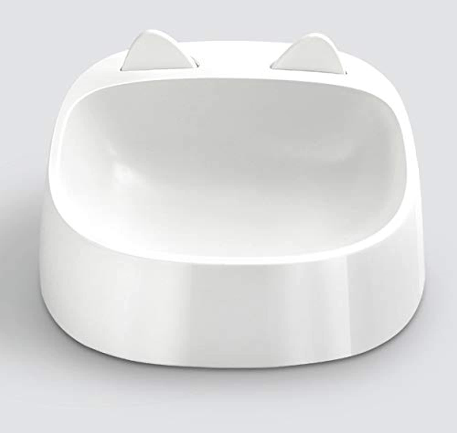Cat Food Bowls Creative Easy to Clean Durable Cat Dish for Food and Water Tilt Angle Design Environmentally Friendly Materials