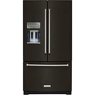 KitchenAid KRFF507HBS 26.8 Cu. Ft. Black Stainless French Door Refrigerator