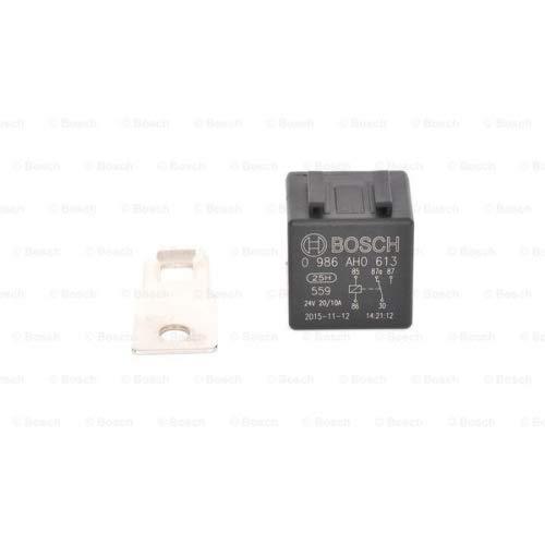 Bosch 0986AH0613 Mini relé de 24V 20A, IP5K4, temperatura de funcionamiento de -40° a 100°C, relé de 5 pines