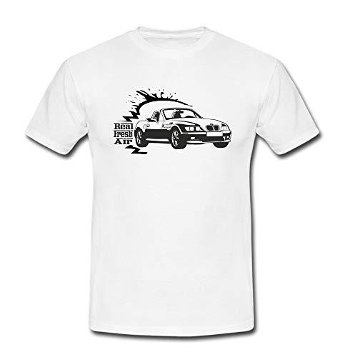 T-Shirt Z3 Roadster Cabrio Sportwagen Automotiv Youngtimer Auto PKW Hot Hatch weiß Gr. XL