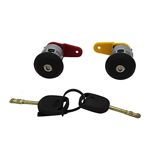 Ricambi Auto Automobile Sinistra Porta a Destra Serratura Cilindro Barilotto con 2 Tasti per Ford Fiesta KA Corrier Escort