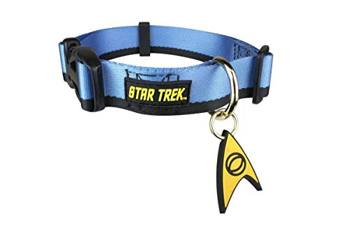 Star Trek Dog Collar Blue XL - Boldly go Where no Other Dog has Gone Before