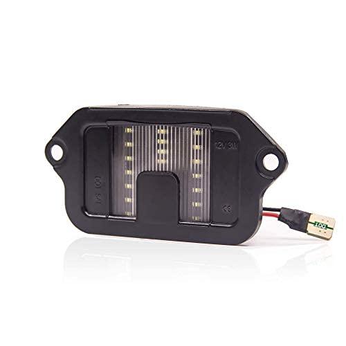 Conjunto de luces LED para placa de matrícula compatible con Mustang 6000 K 2005-2009, blanco, paquete de 1