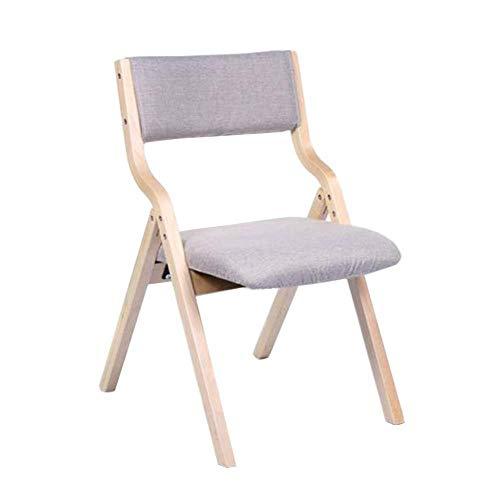 FENGFAN-Klappstuhl, Massivholzrahmen Leinenbezug Gepolsterte Küche Wohnmöbel Rezeption Stuhl