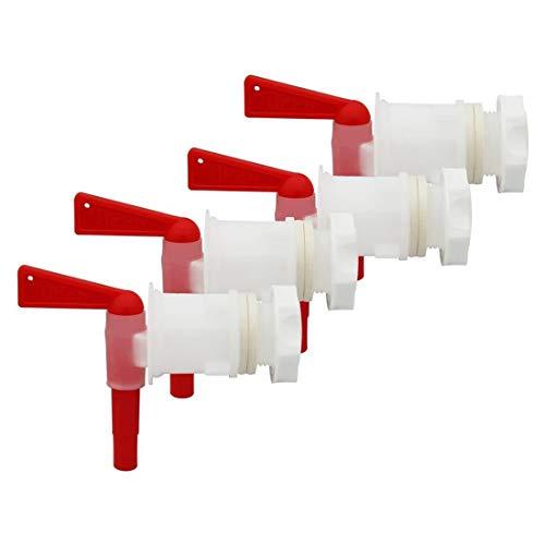 Fransande 4 piezas de plástico de cubo de embotellamiento de cerveza, grifo de repuesto de grifo, grifo de cerveza de fermenor, grifo de vinificación