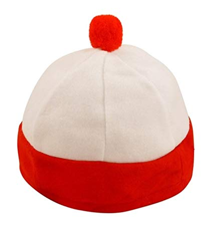 Child Red & White Hat Character Fancy Dress Accessory