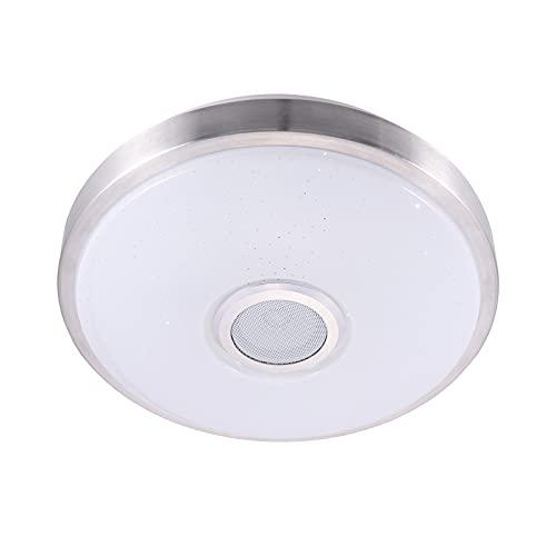 Porcyco Lámpara colgante musical RGB de techo con mando a distancia LED para salón, dormitorio
