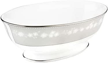 Lenox Bellina Bone China Platinum Banded Open Vegetable Bowl