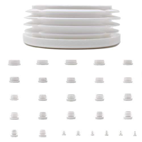 Tapones redondos de plástico, color blanco