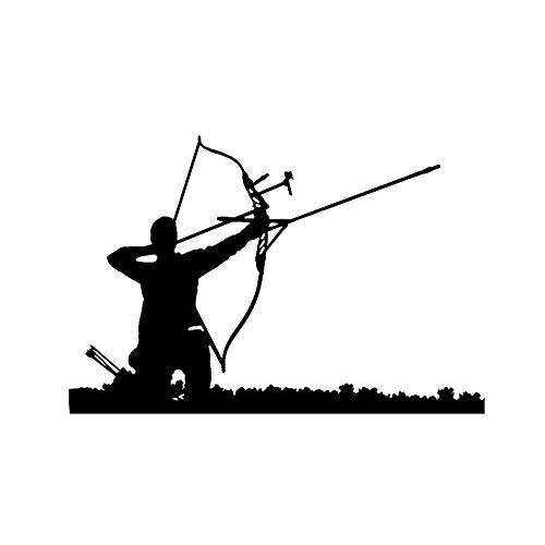 Pegatinas para El Parachoques Moda Cruz Arco Caza Flecha Deporte Decoración Etiqueta engomada del Coche Vinilo Movimiento Extremo 15 5 * 10 4CM-Negro