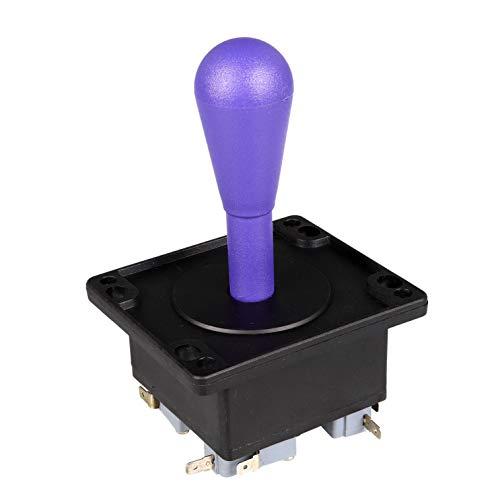 Fosiya American Style 2 Pin Happ Tipo elíptico Arcade Joystick 8 Maneras de la operación, precisión de 0.187  4.8mm Terminal de Video Juegos Arcade1up Piezas de la máquina Morado Oscuro