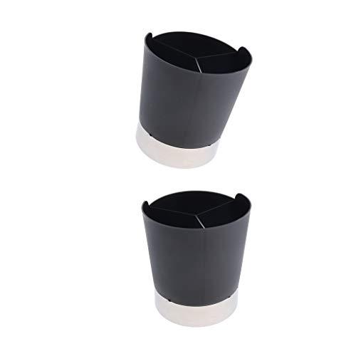 B Blesiya - Dispensador de pajitas (2 Unidades), Color Negro