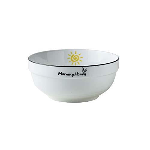 WZNING Tazón de cerámica cálida para el hogar, diseño minimalista, multifunción, multifunción, protección del medio ambiente, porcelana, vajilla, fruta, postre (color: B, tamaño: 6 pulgadas)