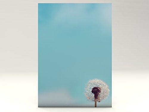 Briefpapier | Pusteblume | 20 Blatt Florales Motivpapier DIN A4
