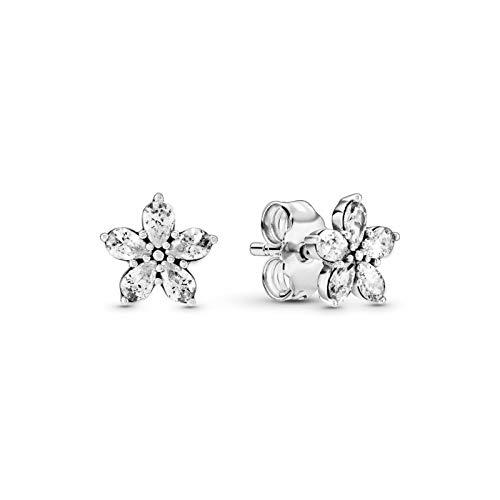 Sterling Silver Snowflake Earrings Pandora