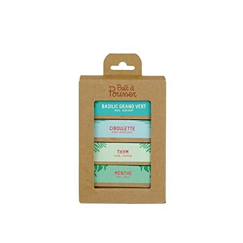 Les Indispensables - Basilic, Menthe, Ciboulette, Thym - 4 capsules pour votre potager de Prêt à Pousser