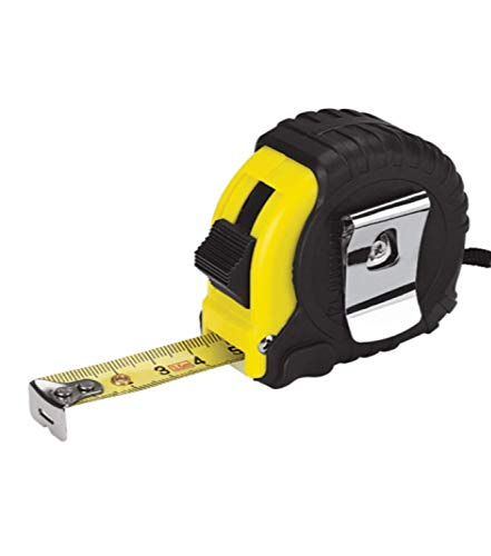 5 Meter Retractable Tape Measure Griplock Imperial Metric Measuring Metres (Black Yellow)