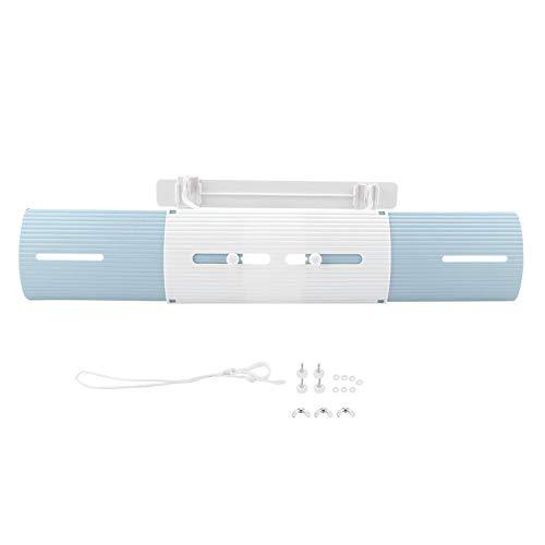 KSTE Deflector Air - 1 PC von Anti-Wind-Schild, Klimaanlage Wind-Schild, einziehbare Windschutzscheibe Deflector, Hausklimaanlage Versorgung (Blau, Grau und Weiß).
