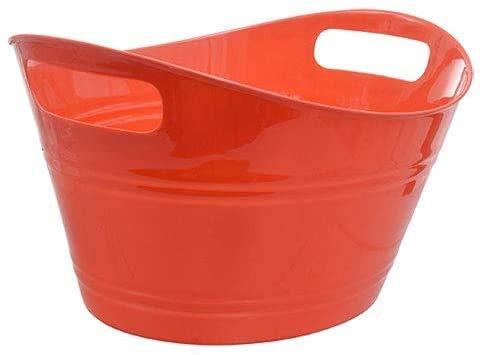 Plastic Storage Tub (Top Rim 12.5' x 9.25' x 6.5' Tall) (4-Pack Retro RED)