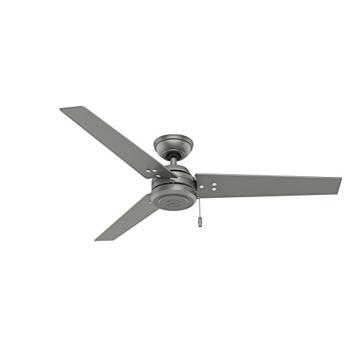 Hunter Fan Company Hunter 59262 Contemporary Modern 52'' Ceiling Fan from Cassius collection in Pwt, Nckl, B/S, Slvr. finish, Matte Silver