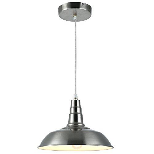 [lux.pro] LED luminaire suspendu (acier inoxydable) plafonnier (1 x socle E27)(125cm x Ø 28cm) lampe à suspension Vintage design rétro
