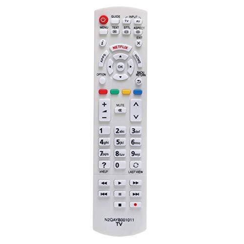 VINABTY N2QAYB001011 Mando a Distancia de Repuesto para Panasonic Viera TV TX-40DX700E TX-32DS600E TX-40CX680E TX-40CX700E...