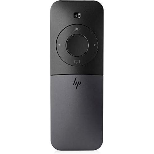 HP Elite Presenter Mouse, Puntatore Laser Virtuale, Tecnologia Gyro, Portata Segnale 10 m, Bluetooth, Ricarica Rapida Micro USB, Pulsanti e Rotella Scorrimento Touch, Custodia Protettiva Inclusa, Nero