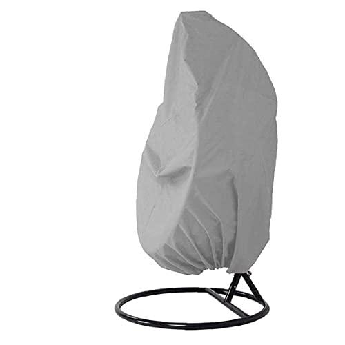 BSJZ Hängende Stuhlhülle, Outdoor Rattan Wicker Egg Chair Schutz Oxford Stoffbezug Möbel Schutzhülle mit Kordeln