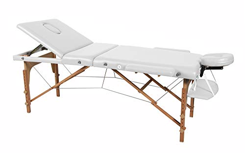 Camilla masaje plegable en madera de haya. Medidas 185x70cm Coinfycare Romus