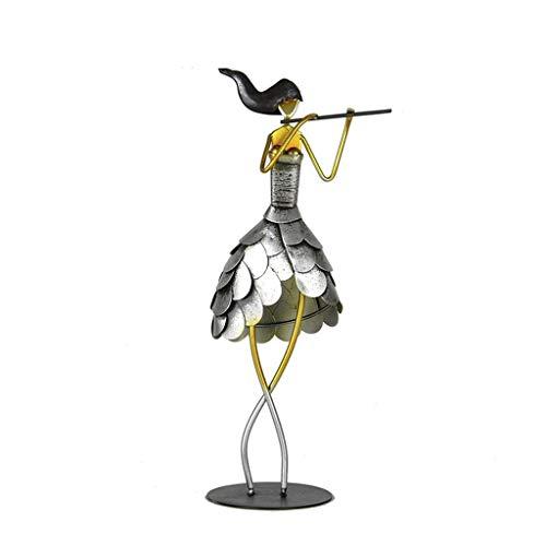 YNLRY Décoration pour meuble TV Petits ornements Décoration de salon Sculpture Artisanat (couleur : noir, taille : 11 x 10 x 34 cm)