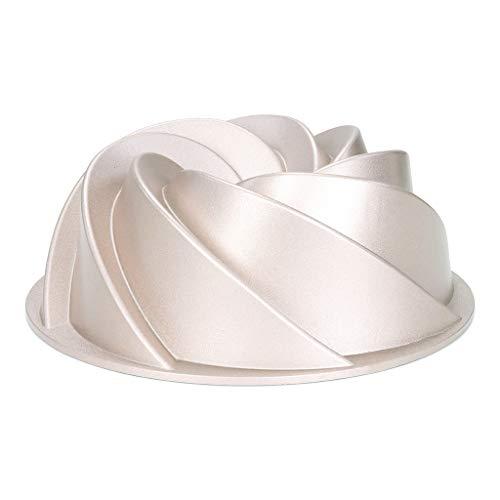 Staab's Patisserie Design-Gugelhupfform Ø 24 cm/Bundtform in verschiedenen Ausführungen/Kupfer-metallic/hochwertigster Alu-Guss (Rondello)