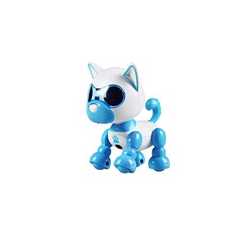 TiTa-Dong Electronic Pet Dog Interactive Puppy, Intelligent Robot Dog Smart Pet Toy Speech Recognition Responds to Touch, Recording, Blowing, Best Birthday for Kids Boys Girls